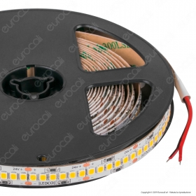 LEDCO Striscia LED 2835 Monocolore 240 LED/metro 24V Energy Saving - Bobina da 5 metri