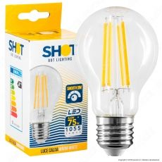 Bot Lighting Shot Lampadina LED E27 8,5W Bulb A60 Filamento Dimmerabile - mod. WLD1010X2D