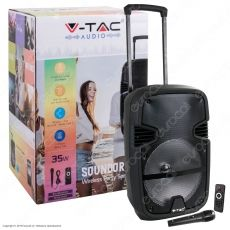 V-Tac Audio VT-6212 Soundor 12 Trolley Cassa Attiva 35W