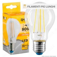 Bot Lighting Shot Lampadina LED E27 7W Bulb A60 Filamento Extra-Lungo