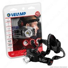 Velamp IH535 Torcia LED Headlight 6W con Funzione Zoom - Torcia Frontale