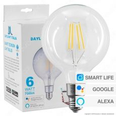 Daylight Lampadina LED Wi-Fi E27 6W Globo G125 Filament Dimmerabile - mod. 552007.00A