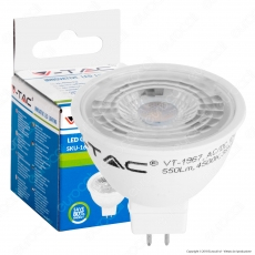 V-Tac VT-1967 Lampadina LED GU5.3 (MR16) 7W Faretto Spotlight - SKU 1663 / 1664 / 1665 [TERMINATO]