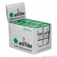 ActiTube Filtri Slim 7mm Carboni Attivi - Box 20 Scatoline da 10 Filtri