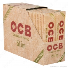 OCB Organic Hemp Pack Cartine King Size Slim Canapa Biologica Lunghe e Filtri in Carta - Scatola da 32 Libretti