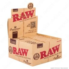 Raw Connoisseur Cartine Classic King Size Slim Lunghe e Filtri in Carta - Scatola da 24 Libretti