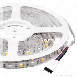 V-Tac Striscia LED 5050 Multicolore RGB+W 60 LED/metro - Bobina da 5 metri - SKU 2553 / 2552 / 2159