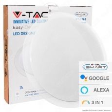 V-Tac Smart VT-5161 Plafoniera LED 60W Changing Color 3in1 Wi-Fi Forma Circolare Effetto Cielo Stellato - SKU 1498