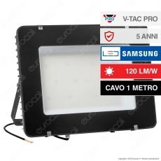 V-Tac PRO VT-405 Faro LED SMD 400W IP 65 High Lumens Ultrasottile Chip Samsung Colore Nero - SKU 964 / 965