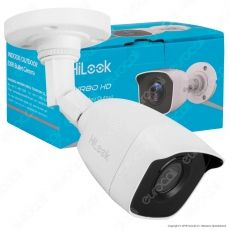 HiLook Turbo HD Camera 2MP Telecamera di Sorveglianza Analogica a Colori EXIR 1080p IP66 - mod. THC-B120-M