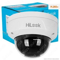 Hikvision HiLook Dome Network Camera 4MP Telecamera di Sorveglianza IP a Colori IR 1080p IP67 - mod. IPC-D140H-M