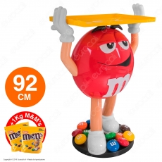 M&M's Character Red Espositore da 92cm con 1Kg di M&M's alle Arachidi