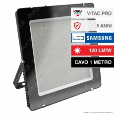 V-Tac PRO VT-1055 Faro LED SMD 1000W IP65 High Lumens Ultrasottile Chip Samsung - SKU 968 / 969
