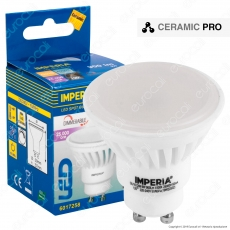 Imperia Ceramic Pro Lampadina LED GU10 9W Faretto Spotlight 120° Dimmerabile - mod. 6017241 / 6017258