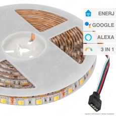 Ener-J Striscia LED Smart Wi-Fi 14,4W 60 LED/metro Changing Color 3in1 Dimmerabile - mod. SHA5213