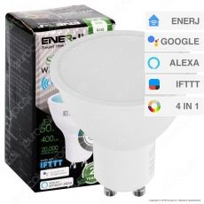 Ener-J Lampadina LED Smart Wi-Fi GU10 5W Faretto Spotlight RGB+W 4in1 Dimmerabile - mod. SHA5286