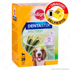 Pedigree Dentastix Fresh Medium per l'igiene orale del cane - Confezione da 28 Stick