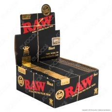 Cartine Raw Classic Black King Size Slim Lunghe - Scatola da 50 Libretti
