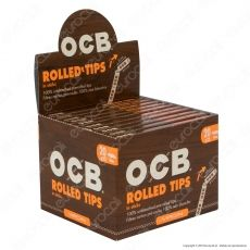 Ocb Virgin Rolled Tips In Sticks Filtri In Carta Non Sbiancati Prerollati - Box da 20 Pacchetti