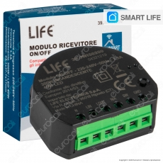 Life Modulo Ricevitore Interruttore ON/OFF Smart Wireless Wi-Fi con App - mod. 39.9WI50200