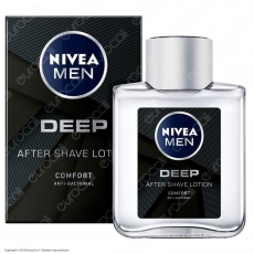 Nivea Men Deep After Shave Lotion Lozione Dopobarba Anti-Batterica - Flacone da 100ml