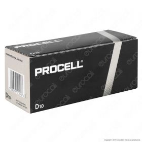 Procell Duracell Industrial Alcaline Torcia D - Box 10 Batterie