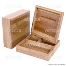 Stoner Box Stazione di Rollaggio in Bamboo - Black Leaf