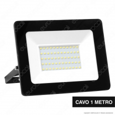 Sure Energy Faro LED SMD 100W IP65 Ultrasottile Colore Nero - mod. T210
