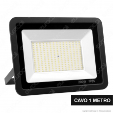 Sure Energy Faro LED SMD 200W IP65 Ultrasottile Colore Nero - mod. T238