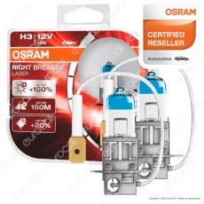 Osram Night Breaker Laser 55W - 2 Lampadine H3