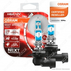 Osram Night Breaker Laser 51W - 2 Lampadine HB4
