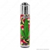 Clipper Micro Fantasia Green Leaves 4 - 4 Accendini