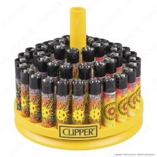 Clipper Large Fantasia Hippie 4 - Box da 48 Accendini