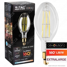 V-Tac Evolution VT-2324 Lampadina LED Filament E27 24W Bulb ED120 Extralarge - SKU 2816 / 2817