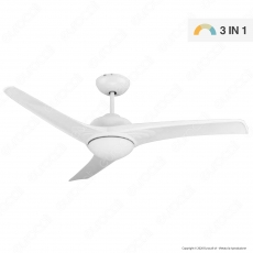 V-Tac VT-6055-3 Ventilatore da Soffitto 35W con Lampada LED 15W 3in1 Changing Color e Telecomando - SKU 7919