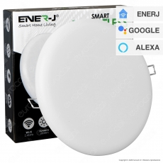 Ener-J Faretto LED 18W Smart da Incasso Rotondo Bianco Wi-Fi 3in1 Changing Color Dimmerabile - mod. SHA5306