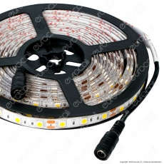 Sure Energy Striscia LED SMD 5050 14,4W/m 12V Monocolore 120 LED IP65 - Bobina da 5 metri - mod. T655 / T654
