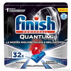 Finish Powerball Quantum Ultimate per Lavastoviglie - 32 Pastiglie