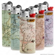 Bic Mini J25 Piccolo Fantasia Countries - 5 Accendini