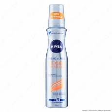 Nivea Styling Mousse Flexible Curls&Care Spray Modellante per Capelli Ricci Definiti - Flacone da 150ml