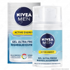 Nivea Men Active Energy Gel Ultra Fresh Risveglio Express - Flacone da 50ml