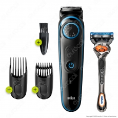 Braun Beard Trimmer 5 BT5240 Regolatore Barba e Tagliacapelli.