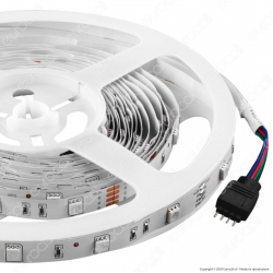 V-Tac Striscia LED 5050 Multicolore RGB 30 LED/metro - Bobina da 5 metri - SKU 2124