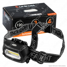 Uniross Torcia Frontale Headlight Ultra Luminosa 5 Modalità di Illuminazione