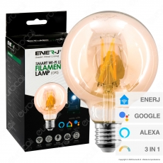 Ener-J Lampadina LED 3in1 Smart Wi-Fi Filament E27 8.5W Dimmerabile - Globo - mod. SHA5309