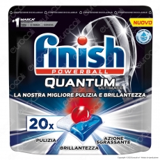 Finish Powerball Quantum Ultimate per Lavastoviglie - 20 Pastiglie