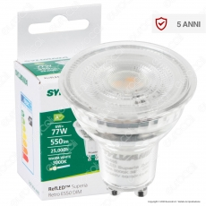 Sylvania RefLED Superia Retro ES50 Lampadina LED GU10 6W Faretto Spotlight 36° Dimmerabile - mod. 0028565 / 0028566 / 0028567
