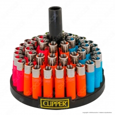 Clipper Micro Fantasia Painted 2 Soft Touch - Box da 48 Accendini