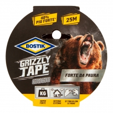 Bostik Grizzly Tape Nastro Grigio Telato in PE Impermeabile - 25 Metri