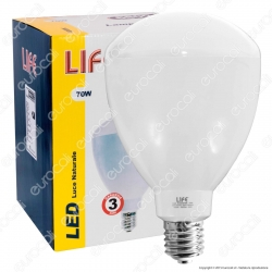 Life Lampadina LED E40 70W High Power Bulb per Campane Industriali - mod. 39.923070N